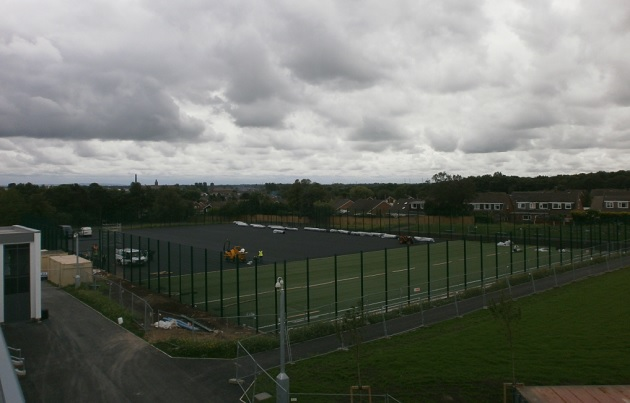 The Fulwood Academy pitch in process of being built