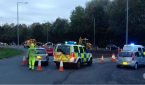 Police on the scene at Penwortham Pic: Preston Police WRCO
