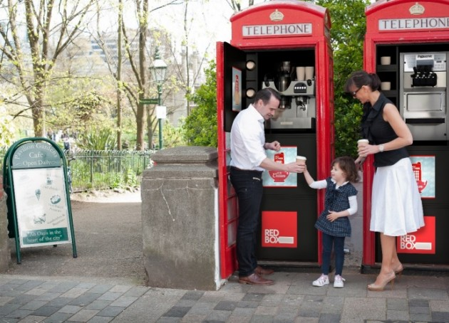 Two phone boxes in Brighton converted into coffee kiosks