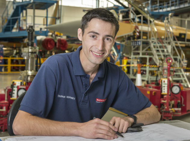 Thomas Hornby has been awarded First Year Apprentice of the Year