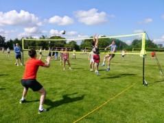 Preston Volleyball team in action