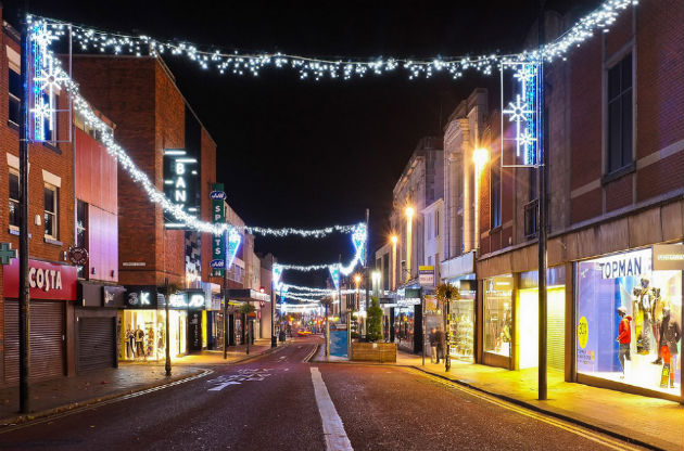 Preston Christmas lights on Fishergate Pic: Paul Melling