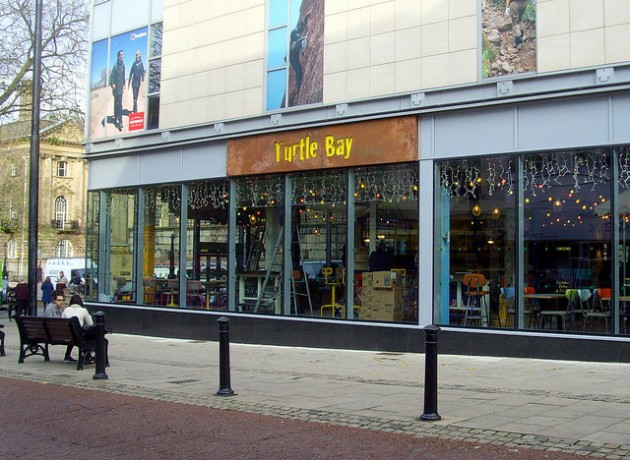 Turtle Bay is where the former Oddbins and Burlington's used to be