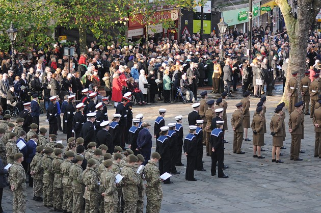 Fantastic turnout for the Remembrance Ceremony today in Preston