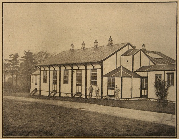 The Preston Hospital for wounded soldiers, Moor Park V.A.D. showing the new recreation hall
