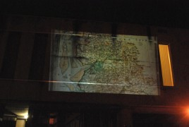 Wall projection from last year's campaign