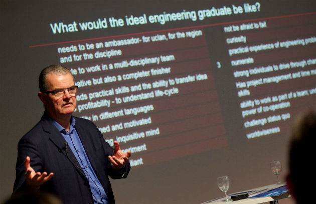 The launch event at UCLan asked what the ideal engineering graduate would be like