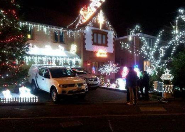 The Tipping family home is a festive attraction in Preston