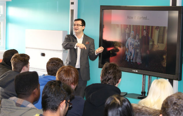 Dawood Fard gives students insight into how his Preston firm went global Pic: Dhanesh Rathod