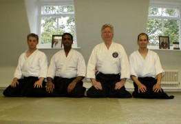 Ian Cherry (third from left) is heading up the Preston Aikido Club