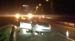 Scene of the crash at Longton Bypass