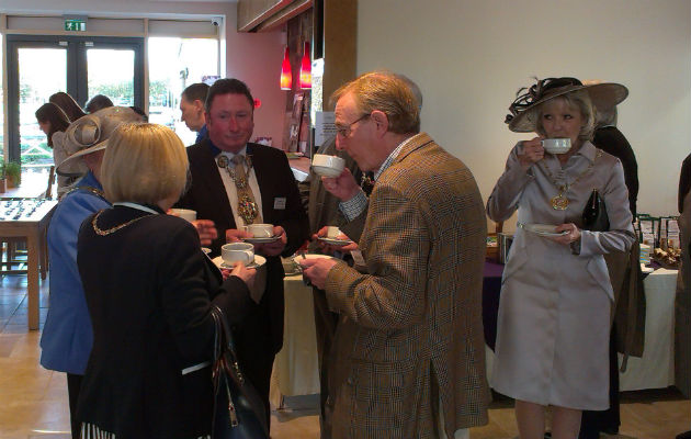 A gathering of local Mayors, including Preston mayor councillor Nick Pomfret were at the opening