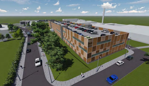Artist impressions of the proposed Preston Hospital car park