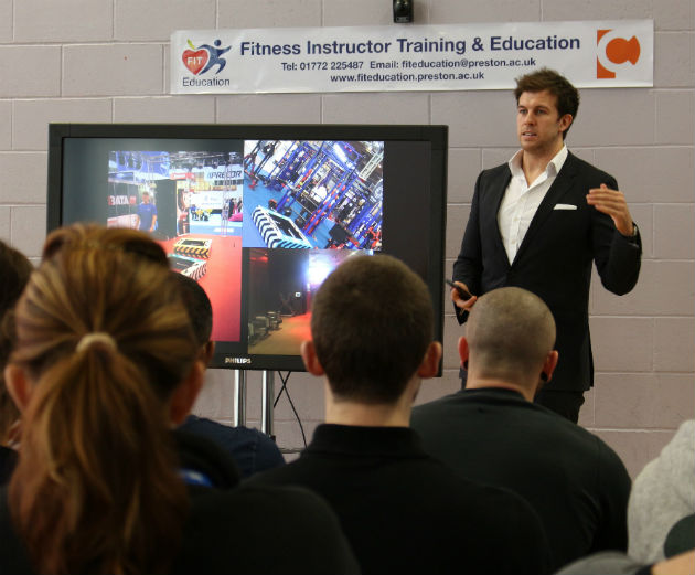Marsh puts students through their paces on how he's grown his business Pic: Dawood Fard gives students insight into how his Preston firm went global Pic: Dhanesh Rathod
