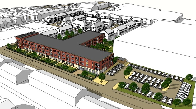 The block of apartments would be within the St Matthews ward