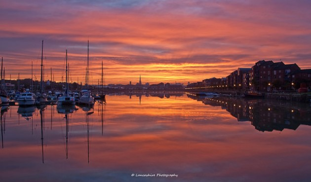 View of Preston Docks looking towards the city Pic: Dave Wilson