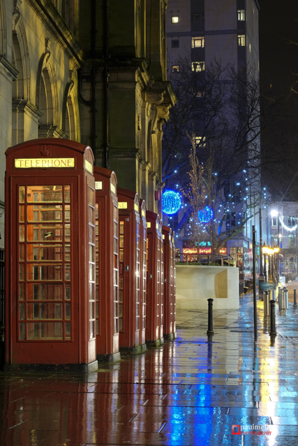 Preston, Lancashire, UK, 06 Dec 2014: UK Weather. Christmas Ligh