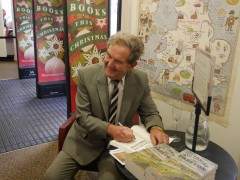 David Hindle as seen  in Waterstones bookstore in Preston signing his latest book