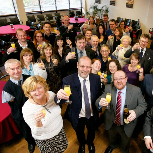 UCLan staff toast their research success