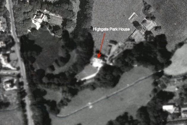 01 Aerial view of Highgate Park Fulwood c.1945