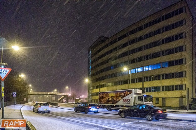 Freezing temperatures will make travel difficult on the Preston road network: Pic Keith Sergeant