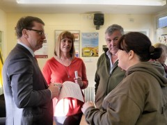 Civil Society Minister Rob Wilson in conversation with Dig In North West founder Donna Rowe-Green