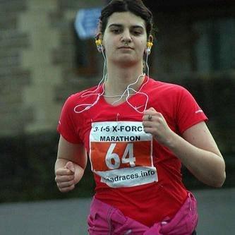 Gina Biggs during a previous race. Pic: Mick Hall Photos
