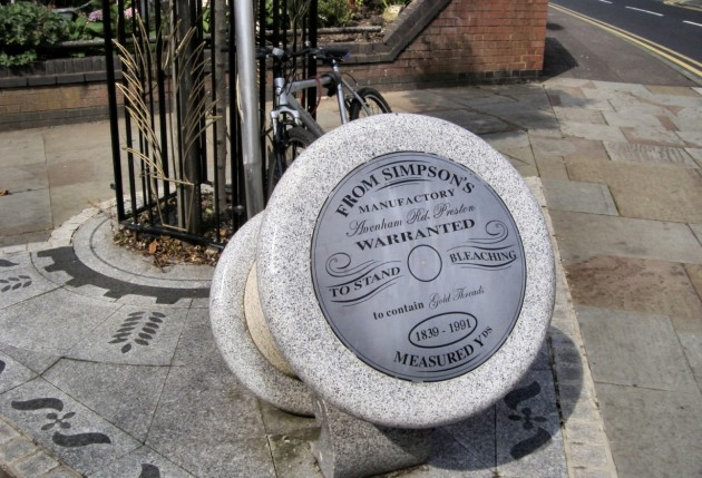 Simpson's Gold Thread Work Needle and Thread memorial on Avenham Road, Preston Pic: CottonGilly