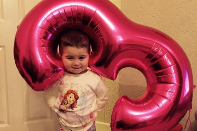 Pippa on her third birthday