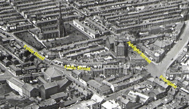 Aerial veiw of proposed Adelphi Square. Captured in the late 1940's