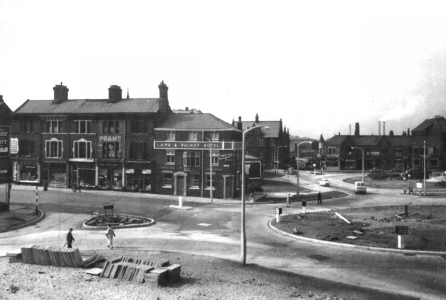Construction of Fylde Street Roundabout, Preston in the early 1960's