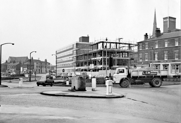 Fylde Street Roundabout, Preston. January 8, 1969.