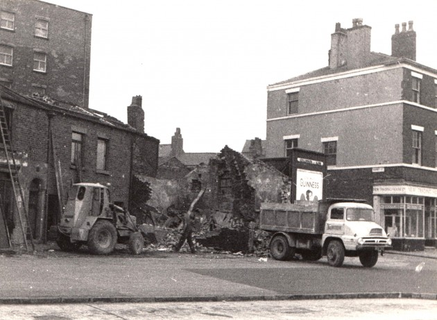Fylde Street demolitions, Preston 1961. This is the location of the '24 hour build' as described in the image above. Pic: Preston Digital Archive