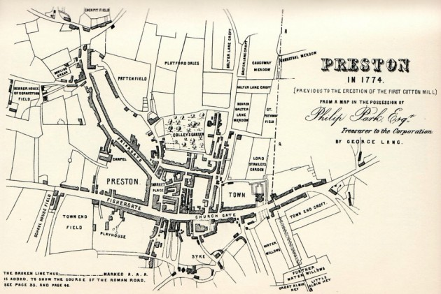 George Lang's Map of Preston 1774