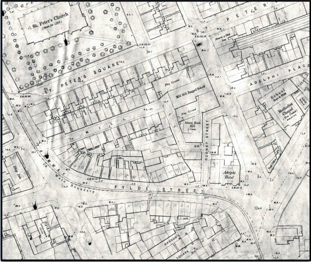 Location of Fylde Street from the 1/ 500 O.S. Series of 1892