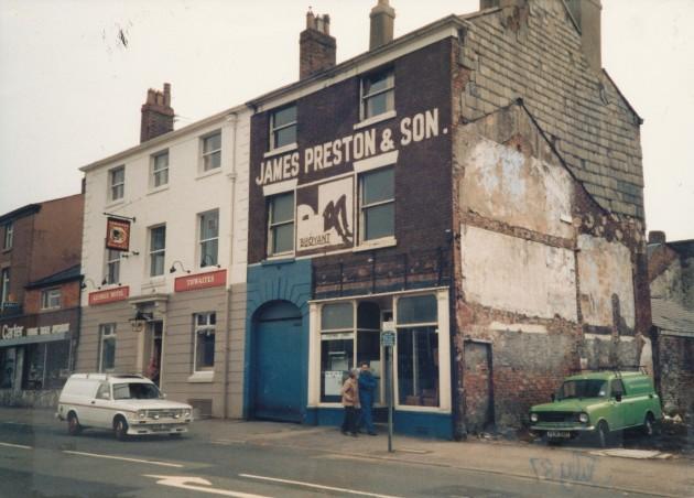 George Hotel, Church Street, Preston (south side) March 1987