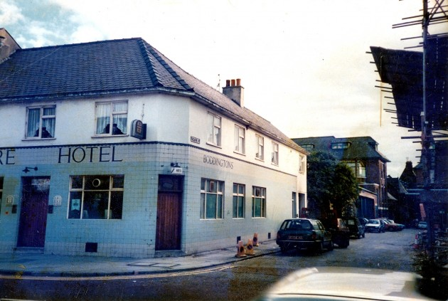 Theatre Hotel Fishergate, Preston June 1987. No longer with us I'm afraid but it was a Boddy's pub with a great atmosphere, cracking juke box and of course, the wonderful footy table game in the back room vault.