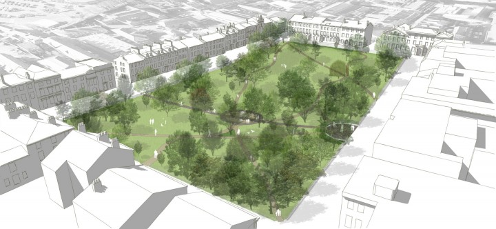 Winckley Square gardens - Model View