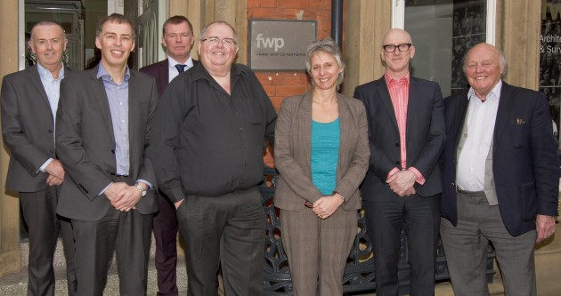FWP partners with Roger. Left to right: Gordon Burke, Martin Whittle, Brent Clayton, Roger White, Kate Shuttleworth, David Robinson, Frank Whittle.