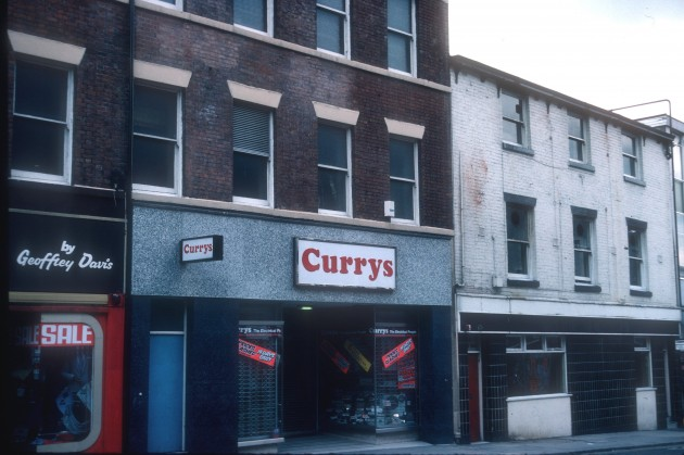 Upper end of Friargate (south side), Preston 1983