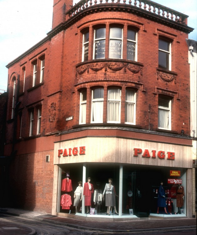Corner of Chapel Walks, Fishergate, Preston 1987