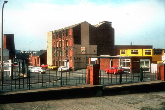 Cotton Mill facing County Record Office, River Street off Bow Lane, Preston 1985