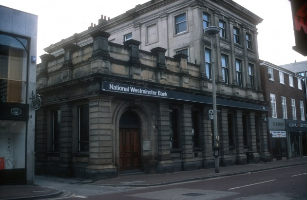 The old National Westminster Bank, Fishergate (south side), Preston 1989
