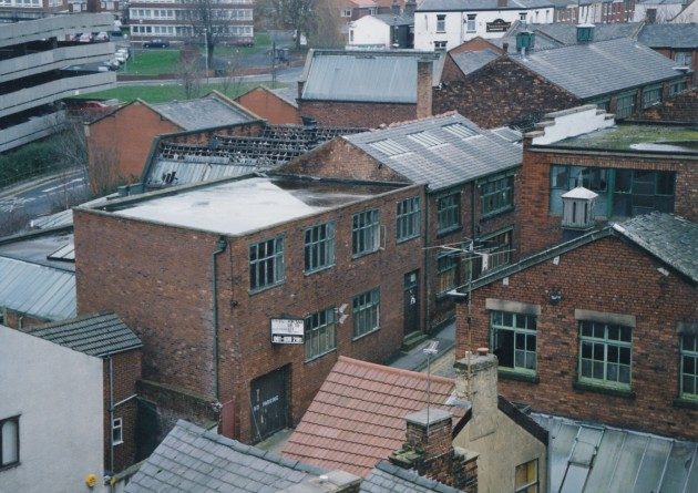 Simpson's Gold Thread Works stands empty and abandoned in 1994