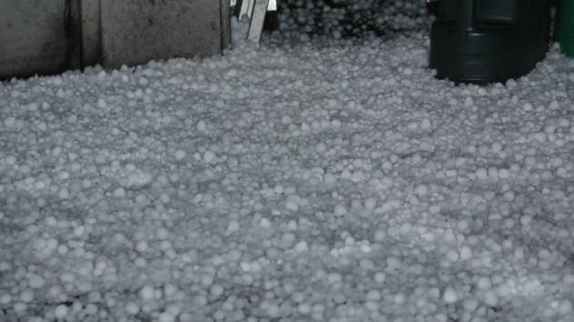 A carpet of hail stones in Preston Pic: Rory Cocker