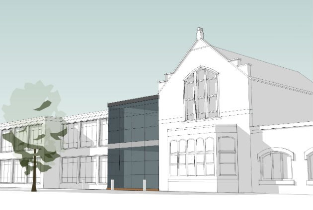 How the new extension fits into the existing Moor Park school