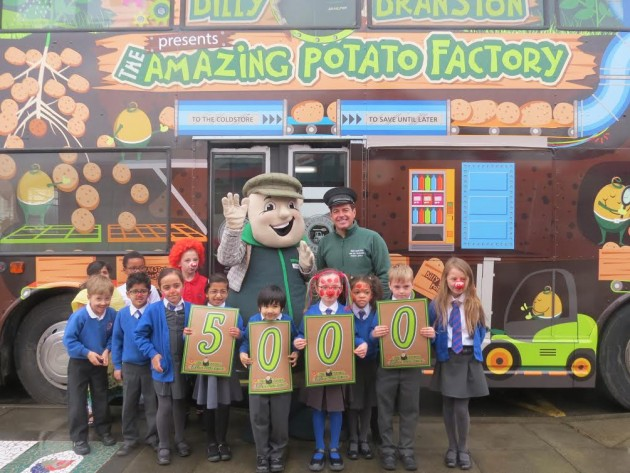 Sherwood Primary School had a visit from Billy Branston's Amazing Potato Factory