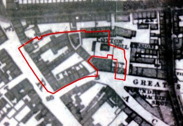 Extract from Myers Map 1836