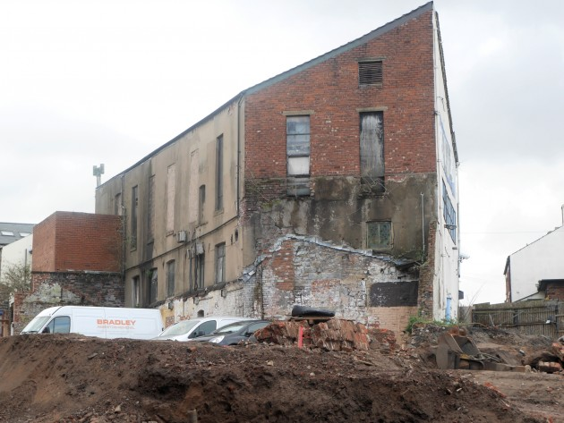 Part of the former Back Lane Cotton Mill