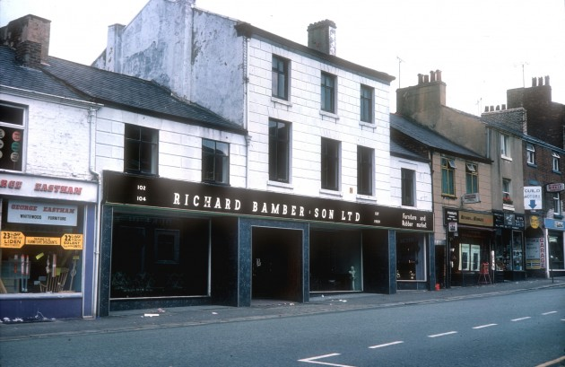 The part of Friargate in which the demolition took place: Pic Preston Historical Society 1976
